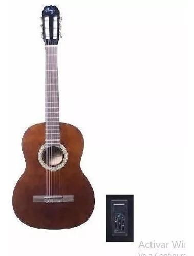 Guitarra Electrocriolla Parquer Custom Marron Funda Cuota