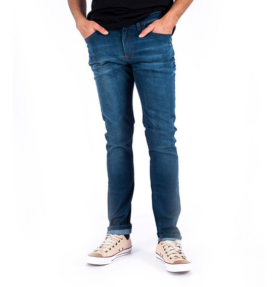Jean Rusty Dot Vintage Azul Hombre