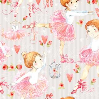 Papel De Parede Infantil Bailarina Quarto Menina - Ref 3964