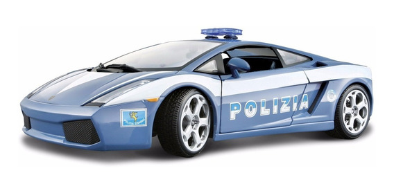 Lamborghini Gallardo Polizia 1:24 Bburago Carros Miniaturas