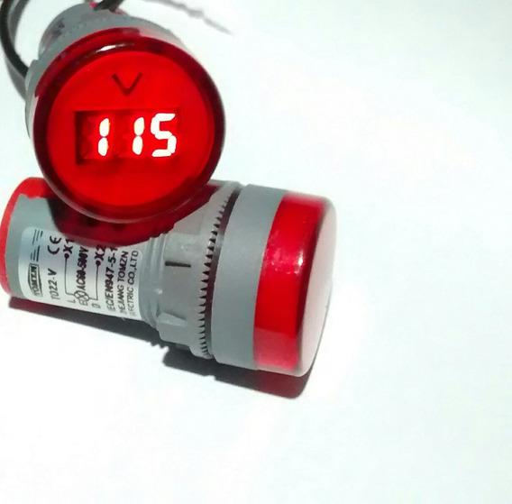 Voltímetro Para Painel 110/220v Para Painel 22mm 60/500 Vac