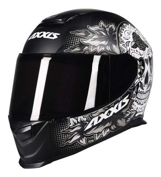 Capacete para moto integral Axxis Helmets Eagle Skull matt black/grey S
