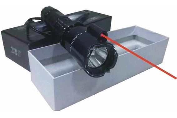 Picana Linterna Laser Tactica Recargable 220v + Cable $