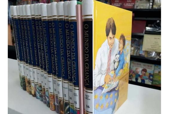 Livro O Mundo Da Criança - 16 Vols Encyclopedia Brita