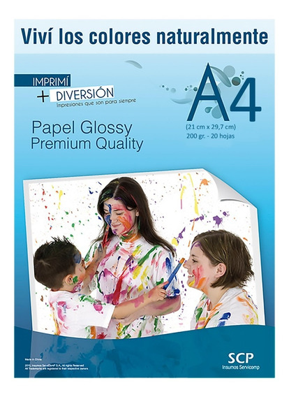 Papel Scp Foto A4 Simple Faz 120gr X 200 Hojas Glossy