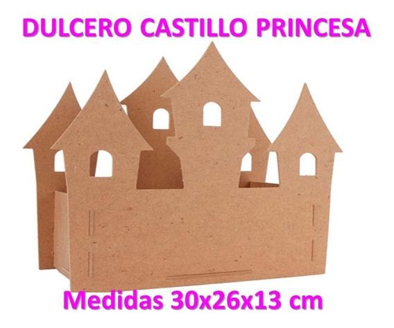 Dulcero Castillo Princesa Mdf Fiesta Centro Mesa Dulces