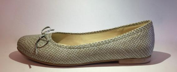 Chatitas Ballerinas Zapatos Cuero Celeste