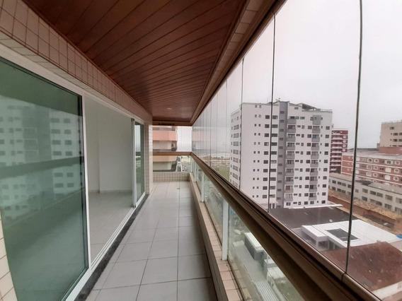 Apartamento Com 3 Dormitórios Para Alugar, 132 M² Por R$ 2.900/mês - Tupi - Praia Grande/sp - Ap0188