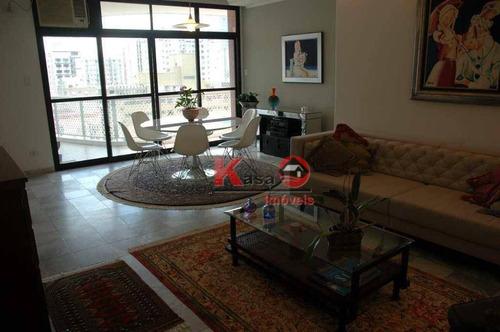 Imagem 1 de 12 de Apartamento Com 3 Dormitórios À Venda, 204 M² Por R$ 880.000,00 - Gonzaga - Santos/sp - Ap6072