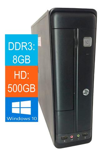 Imagem 1 de 3 de Pc Core I5 4ª Geração Hp 402 G1 8gb 500gb Com Windows
