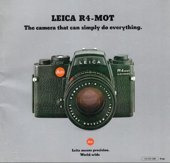 Leica R4 Electronic Manual De Instruçoes. Ingles Pdf 1,99r$