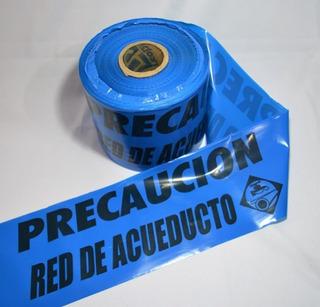 Cinta De Señalizacion Red De Acueducto Rollo Por 300 Metros
