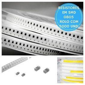 Resistor Smd 0805 3k 5% Rolo C/5milpçs