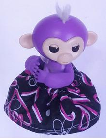 Monkey Macaco Macaquinho Fingerlings Original Mia Roxo