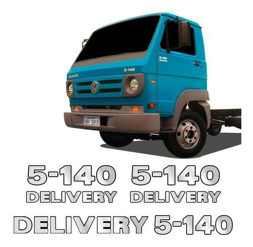 Imagem 1 de 5 de Emblemas 5-140 Delivery Volkswagen Adesivo Caminhão Cromado