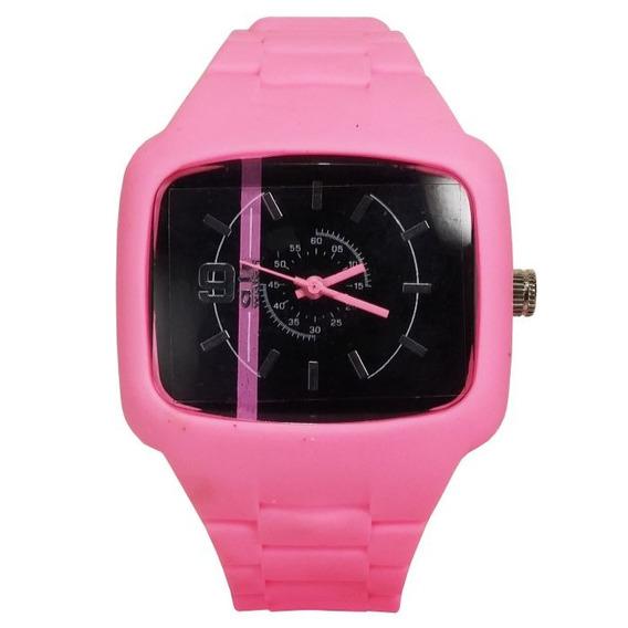 Relógio Pulso Air Watch Pulseira De Silicone Rosa M11