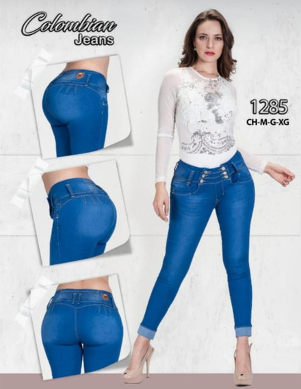 2 Jeans Dama Levanta Pompa Colombiano Push Up Mayoreo Mezcli
