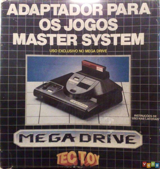 Adaptador Para Jogos (tectoy) Master System Para Mega Drive
