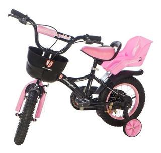 Bicicleta Infantil Lamborgini Rodado 12 Nuevas 3 Colores