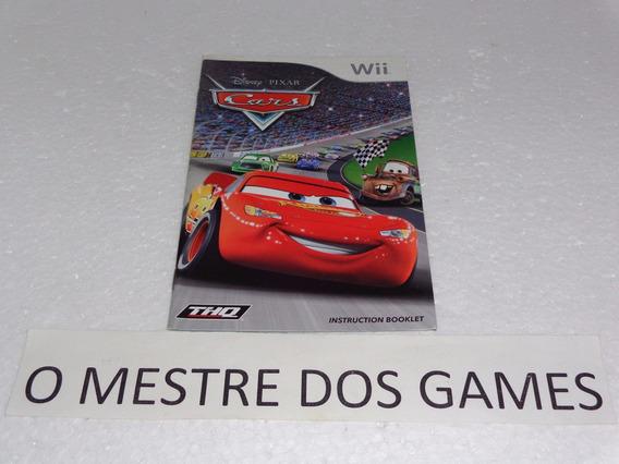 Somente O Manual Do Jogo Cars Para Nintendo Wii