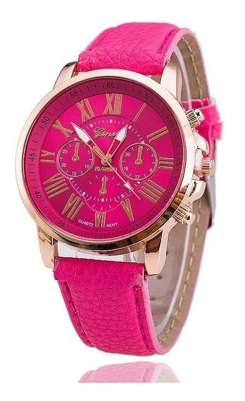 Relógios Femininos Geneva Rosa - Promoção
