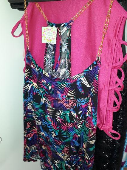 Camisa Tropical Tiritas Cadenas Doradas