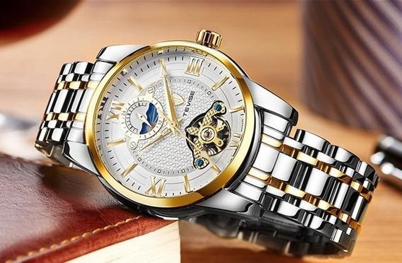 Relógio Tevise Masculino De Luxo Automático Bem Conservado