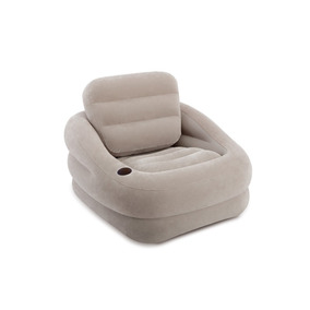 Sillon Inflable Estabilizado Khaki Con Respaldo Adulto Intex