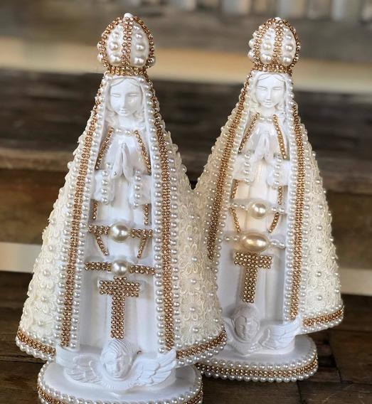 Imagem Nossa Senhora Aparecida Decorada Na Renda Guipir