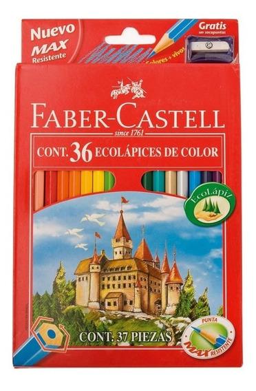Lapices Faber Castell X 36 L Ecolapiz + Sacapunta De Regalo