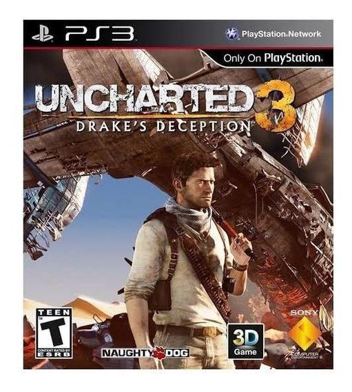 Ps3 Uncharted 3 (aventura) Play3 (português) Jogo Barato