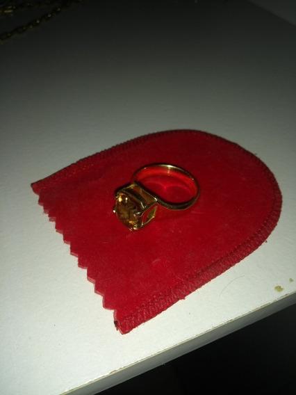 Anel De Ouro Com Pedra Andaluzita