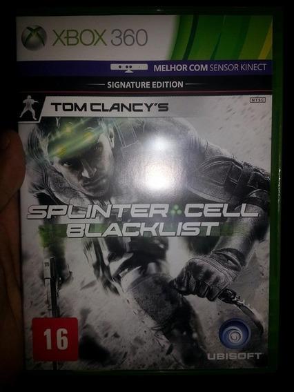 Jogo Splinter Cell Balcklist Xbox360 Ntsc Em Dvd Original