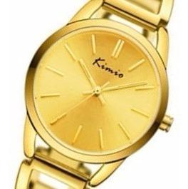 Relógio Kw6105 Dourado Feminino Kimio Formatura Casamento