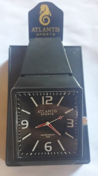 Relógio Atlantis G5531 Preto Ponteiro Vermelho Masculino