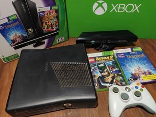 Xbox 360 Slim 4gb + Joystick + Kinect + 2 Juegos, Original