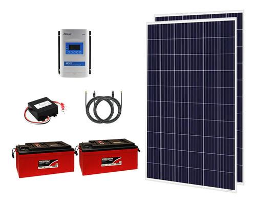 Kit Off Grid 2x Painéis 280w + 2x Baterias 240ah + Mppt 20a