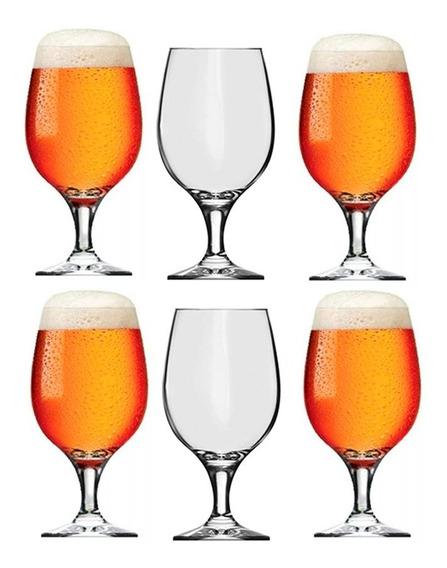 Copa Cerveza Tipo Belga 500ml Nadir Vidrio Cervecero X6