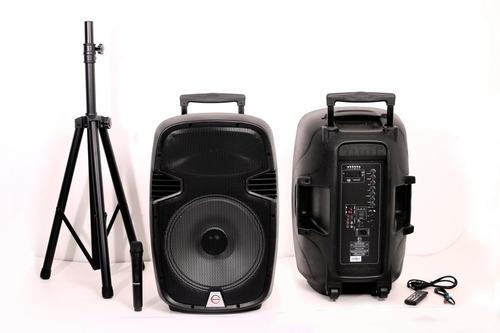 Parlante Amplificador 15  Recargable  + Tripode+1 Microfono