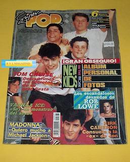 New Kids Rob Lowe Johnny Deep Vanilla Ice Revista Super Pop