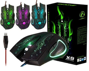 Mouse Gamer Usb Plugx X9 Preto