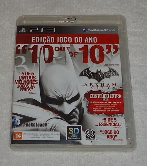 Batman Arkham City Ps3 Leg Portugues ** Leia