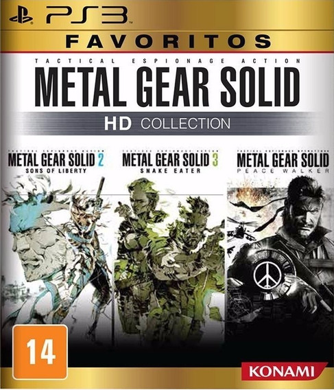 Metal Gear Solid Hd Collection Ps3 Mídia Física Lacrado