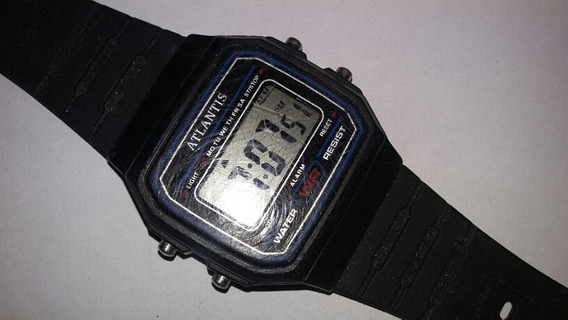 Relógio De Pulso Masculino Atlantis Digital Retro