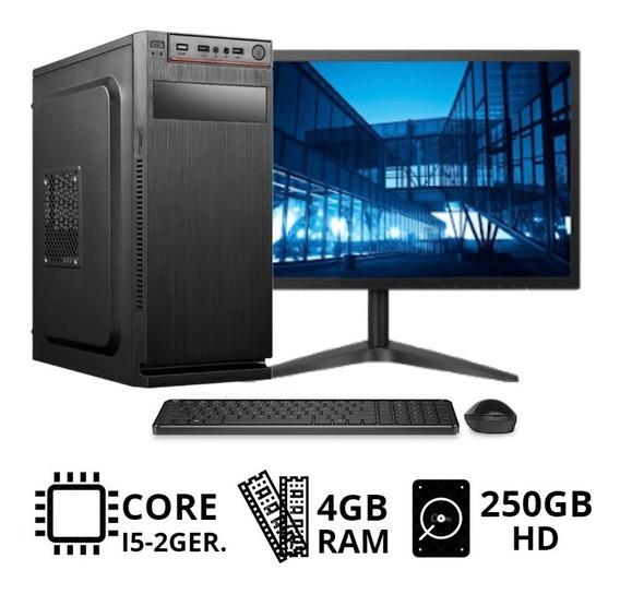 Desktop I5 4gb Ram Com Monitor Gamer + Wifi E Frete Gratis