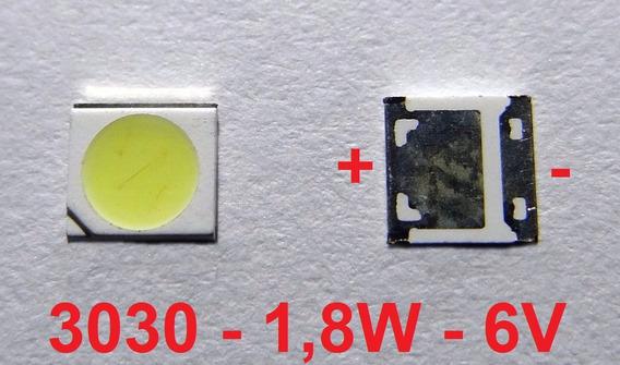 Kit 40 Chip Super Power Led 1,8w 6v 3030 Branco Frio