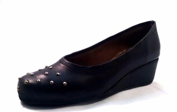 Sam123 Zapatos Taco Chino De Cuero Talles Grandes Tachas N