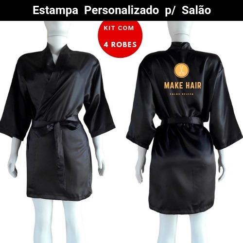 Robe Personalizado P/ Salão De Beleza, 4 Robi #midoranoiva