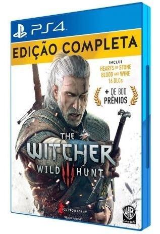 Jogo Ps4 The Witcher 3 Português Edição Completa Mídia Físic