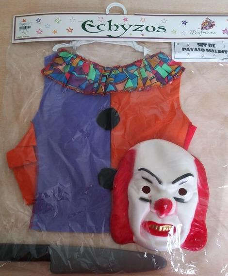 Set Disfraz Payaso Maldito It Niño Halloween Talle Único